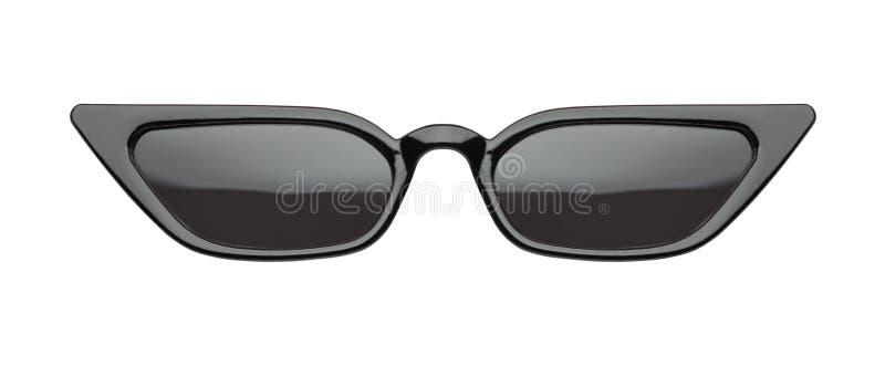 Svart slank spetsig solglasögon arkivbilder