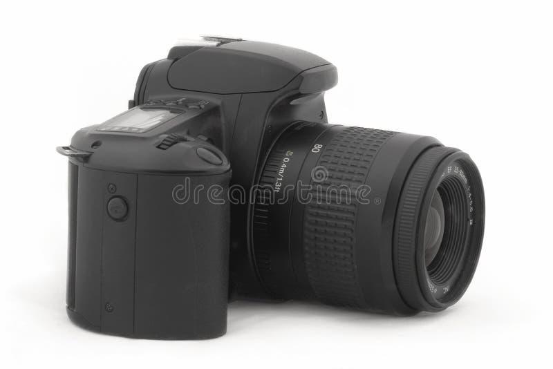 Svart SLR-kamera arkivfoto