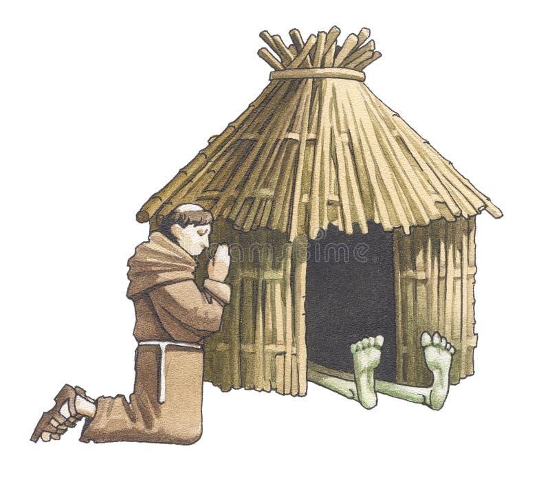 svart smallpox stock illustrationer