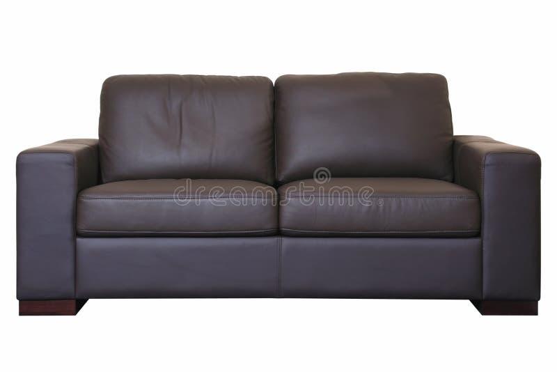 svart sofa royaltyfria foton