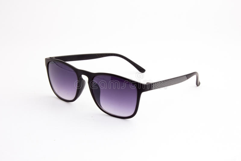Svart solglasögon på en vitbakgrund royaltyfri bild