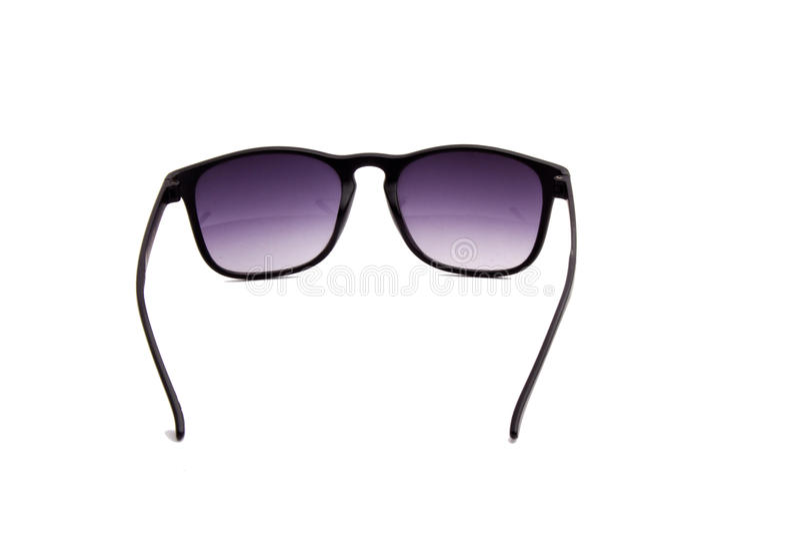 Svart solglasögon på en vitbakgrund royaltyfria foton