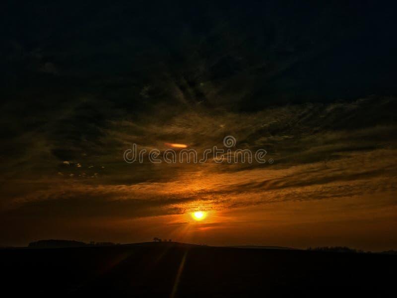 svart solnedgång fotografering för bildbyråer