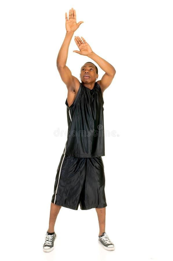 svart spelare för basket arkivfoton