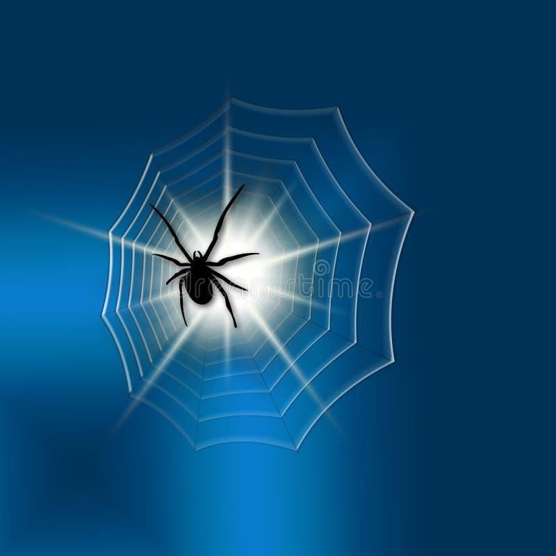 svart spindel stock illustrationer