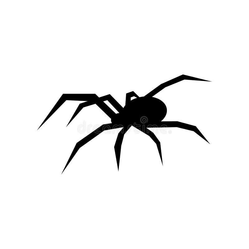 Svart spindelvektorkontur svart änka Plan vektorillustration vektor illustrationer