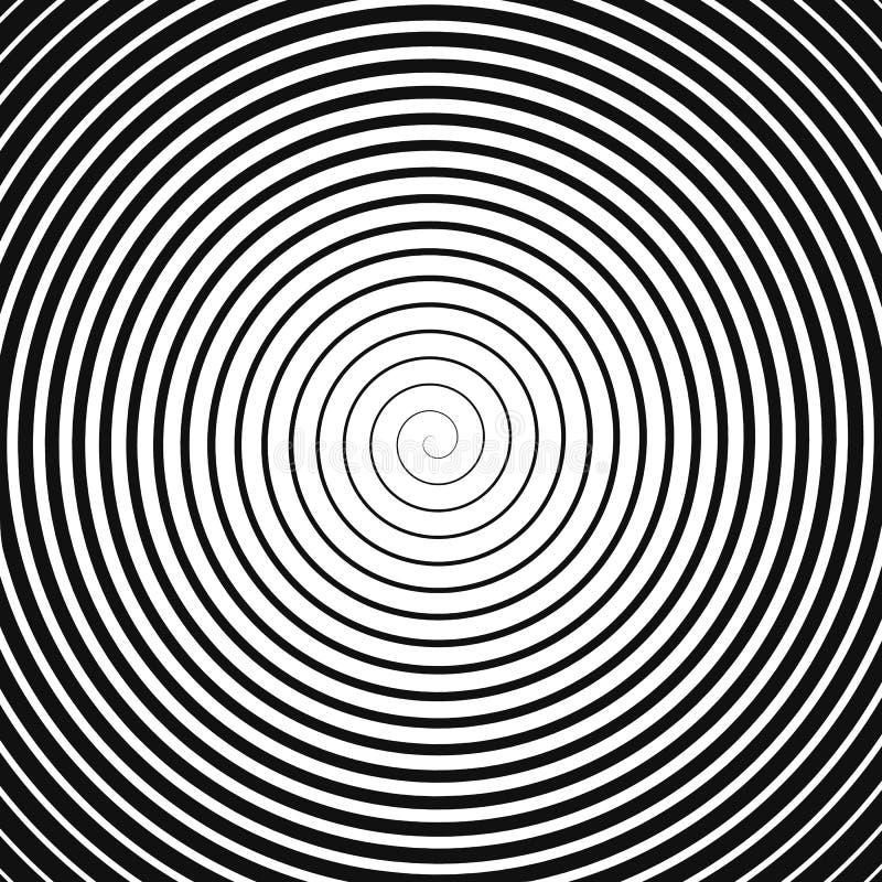Svart spiral på vit vektor illustrationer