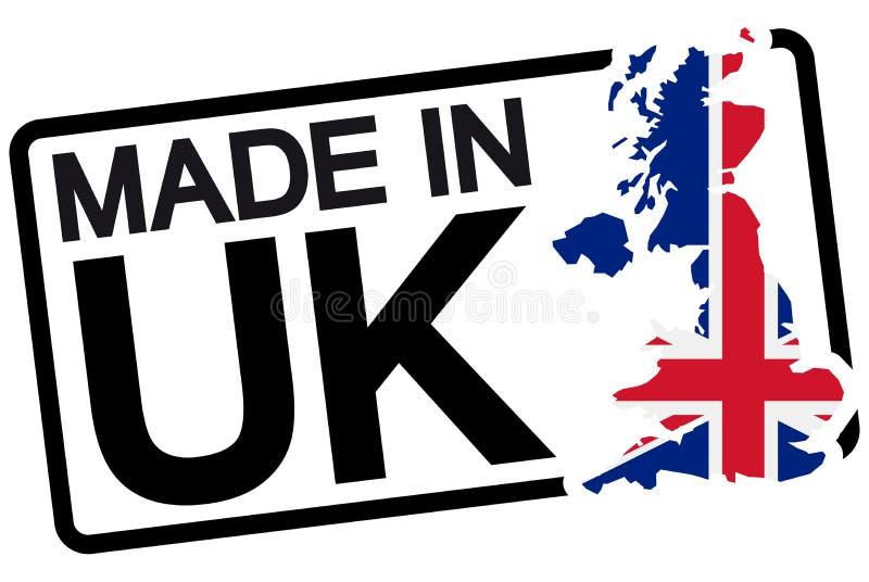 svart stämpel med text som göras i UK royaltyfri illustrationer