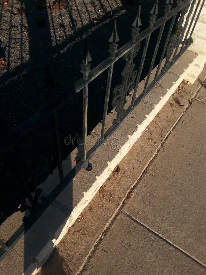 svart staket royaltyfri foto