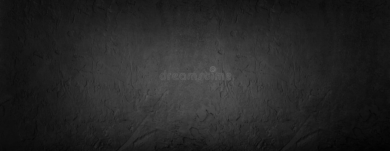 Svart stenbakgrund, grå färgcementtextur Bästa sikt, lekmanna- lägenhet arkivfoto