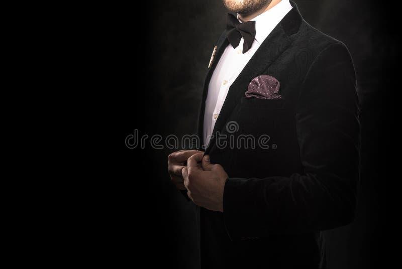 svart stiligt mandräktbarn royaltyfri fotografi