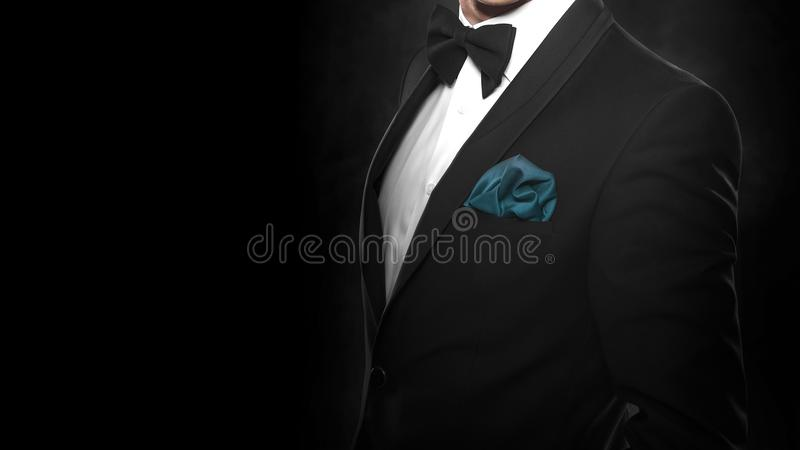svart stiligt mandräktbarn royaltyfri bild