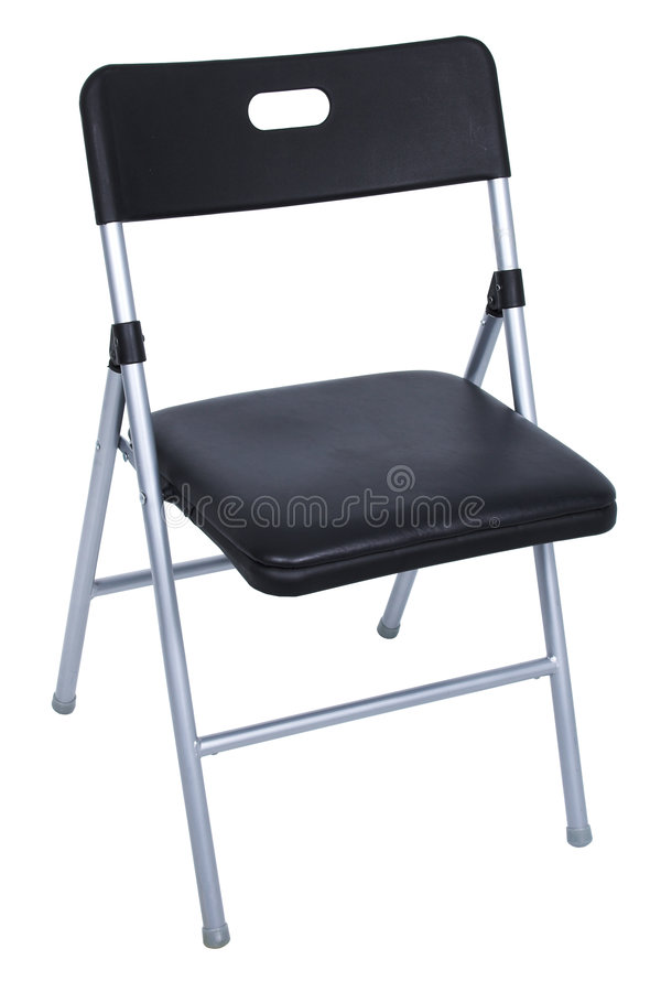 svart stol som viker över silverwhite royaltyfria bilder