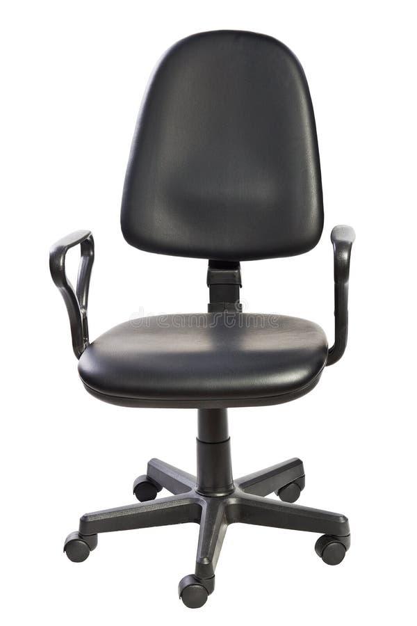 svart stolskontor royaltyfri bild