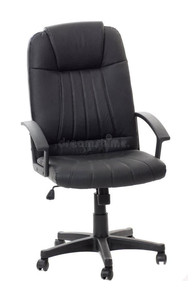 svart stolskontor royaltyfri foto