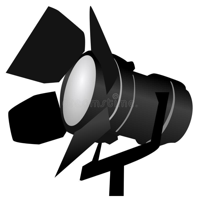 svart strålkastare vektor illustrationer