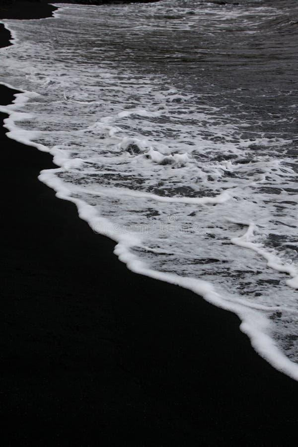 Svart strand fotografering för bildbyråer