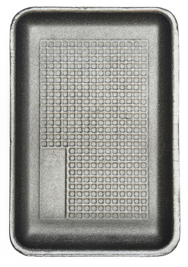 Svart Styrofoam arkivbilder