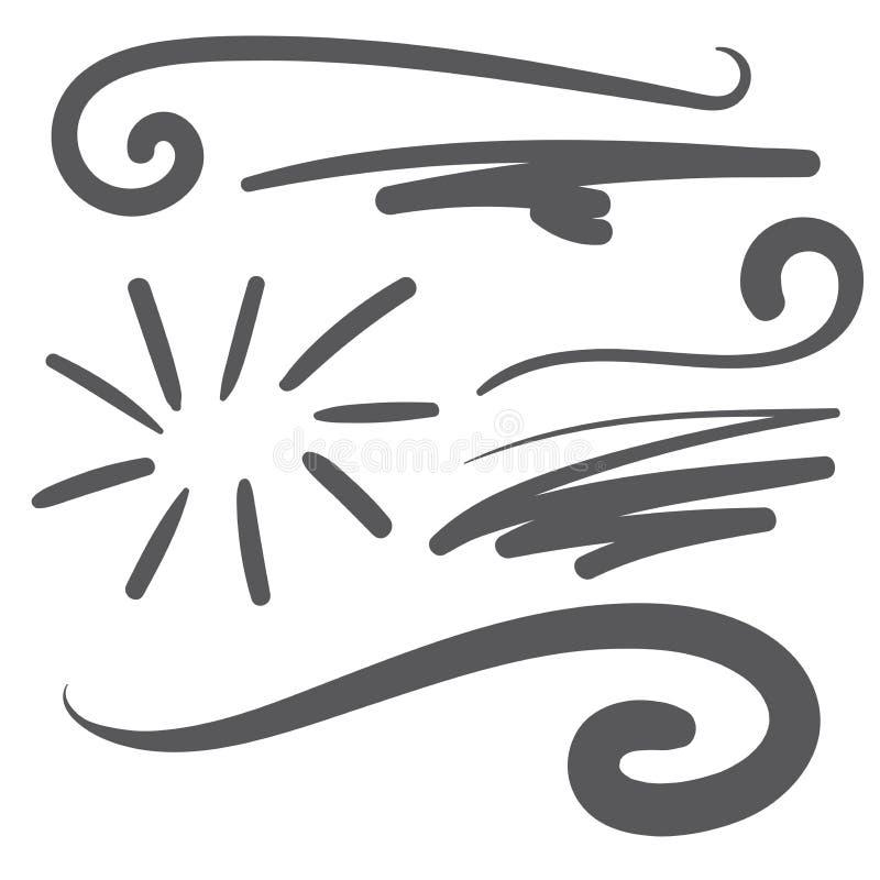 Svart svans för stilsort för squiggleswooshtext - baseballtshirtdesign stock illustrationer