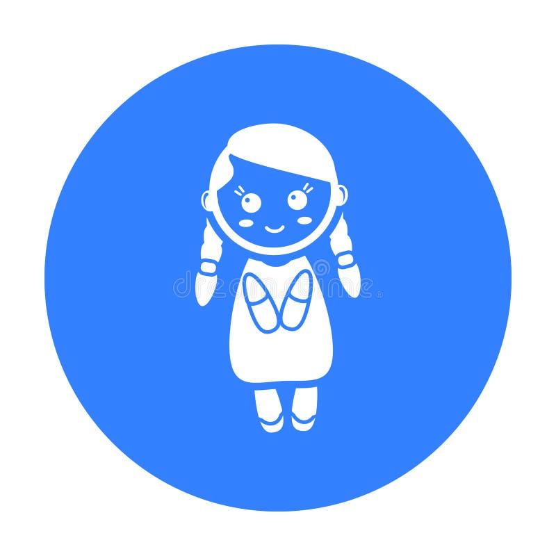 Svart symbol för docka Illustration för rengöringsduk och mobil design royaltyfri illustrationer