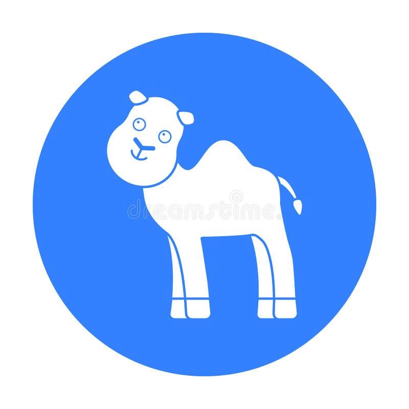 Svart symbol för kamel Illustration för rengöringsduk och mobil design vektor illustrationer