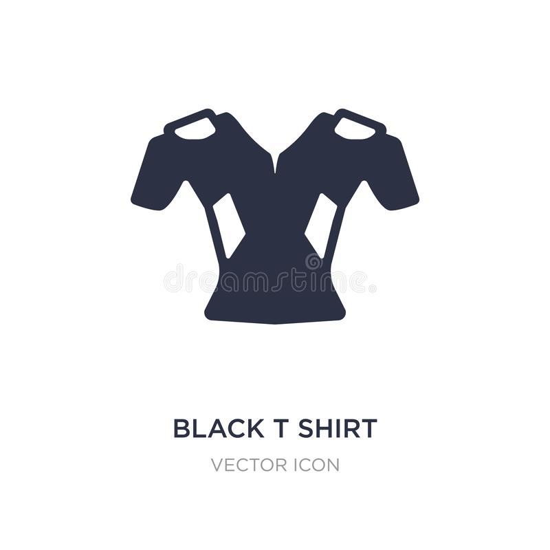 svart symbol för t-skjortatorkduk på vit bakgrund Enkel beståndsdelillustration från begrepp för amerikansk fotboll stock illustrationer