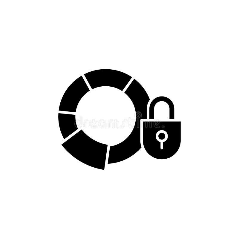 Svart symbolsbegrepp för förtroliga rapporter Förtroliga rapporter sänker vektorsymbolet, tecknet, illustration royaltyfri illustrationer