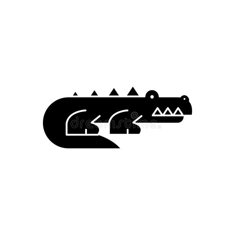 Svart symbolsbegrepp för rov- djur Rov- djur sänker vektorsymbolet, tecknet, illustration stock illustrationer