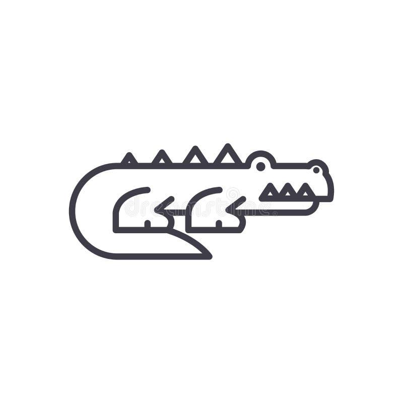 Svart symbolsbegrepp för rov- djur Rov- djur sänker vektorsymbolet, tecknet, illustration royaltyfri illustrationer