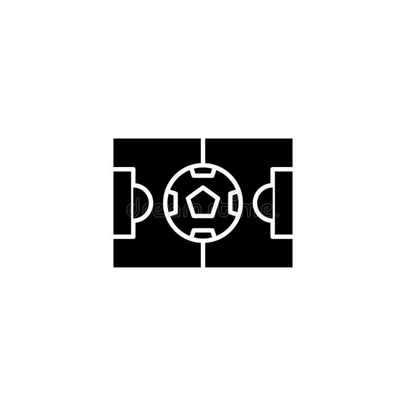 Svart symbolsbegrepp för stadion Plant vektorsymbol för stadion, tecken, illustration royaltyfri illustrationer