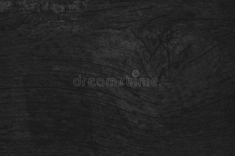 Svart tabellbakgrund för trä, bästa sikt för mörk textur, utrymme grått l arkivbild