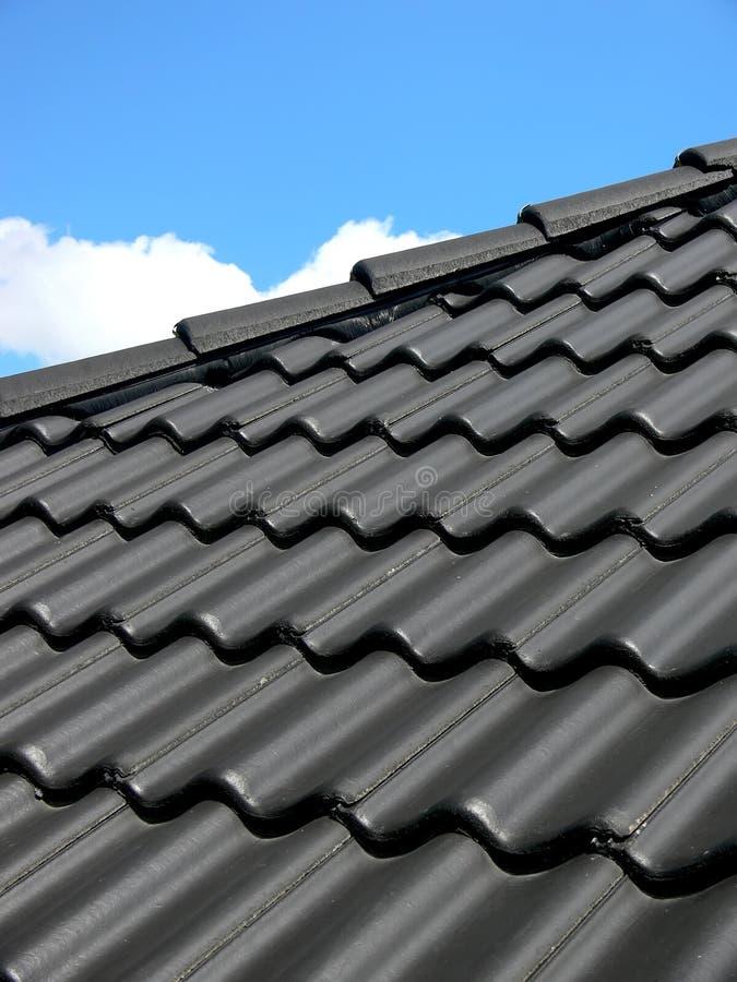 svart tak arkivbilder