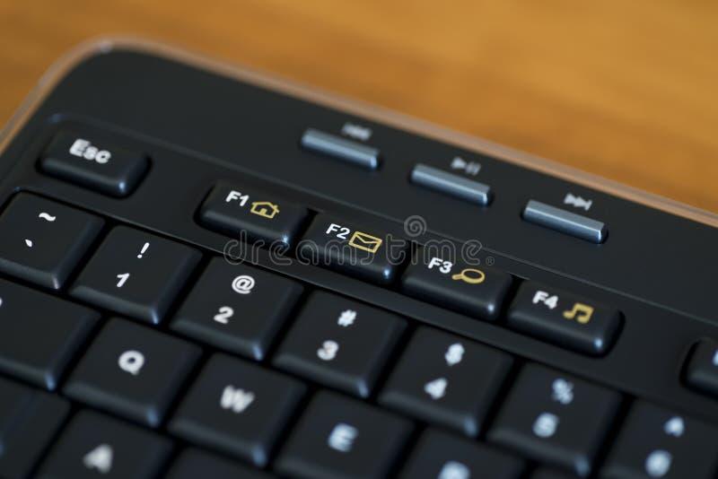 Svart tangent för Email för datortangentbord royaltyfria bilder