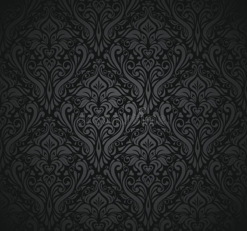 Svart tappningwallpaper royaltyfri illustrationer