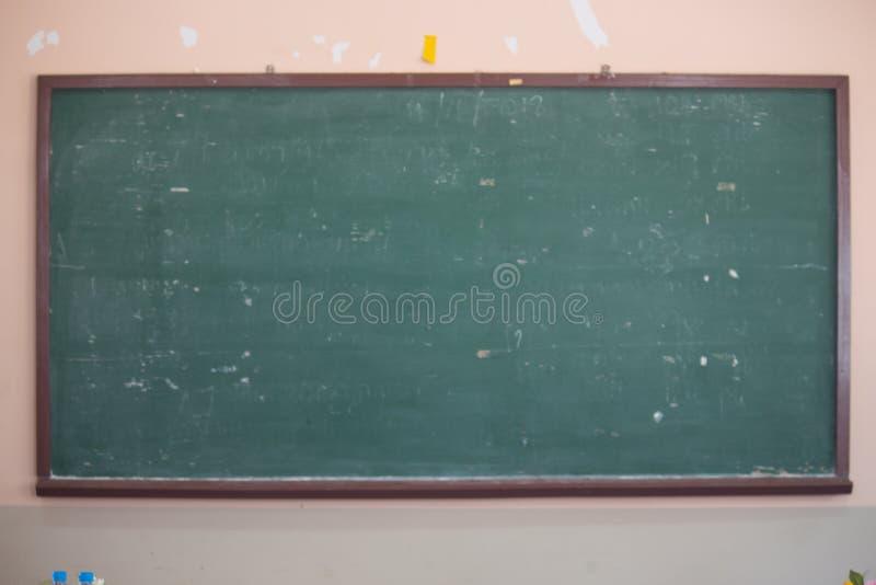 Svart tavla i klassrum royaltyfria foton