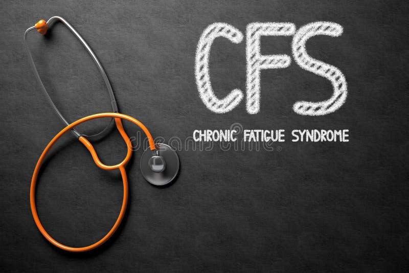Svart tavla med CFS illustration 3d fotografering för bildbyråer