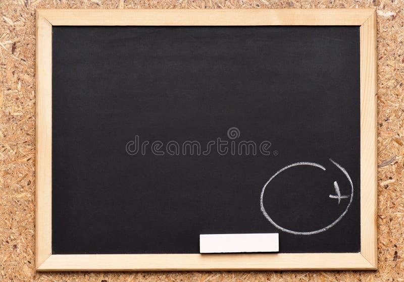 Svart tavla med handstil arkivfoton