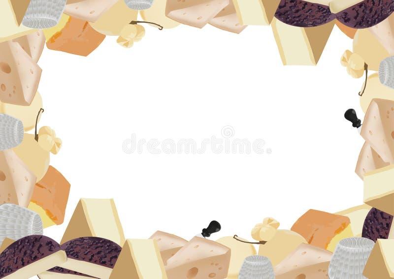 Svart tavla med mejerinötkreatur royaltyfri illustrationer
