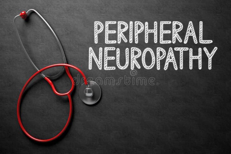Svart tavla med perifer Neuropathy illustration 3d arkivbild