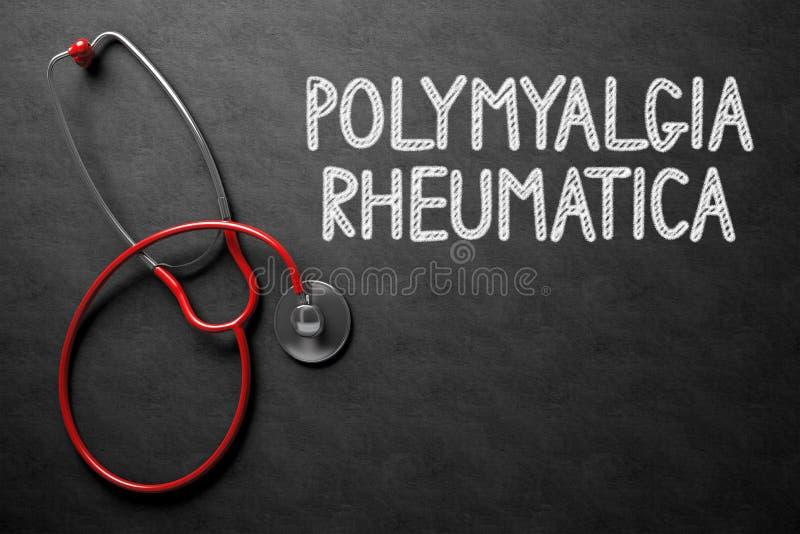 Download Svart Tavla Med Polymyalgia Rheumatica Illustration 3d Arkivfoto - Bild av förlust, handskrivet: 78730132