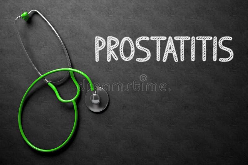 Svart tavla med Prostatitis illustration 3d royaltyfri bild
