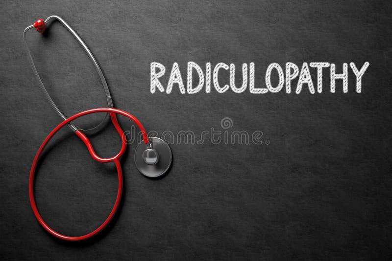 Download Svart Tavla Med Radiculopathy Illustration 3d Arkivfoto - Bild av kompression, stetoskop: 78729552