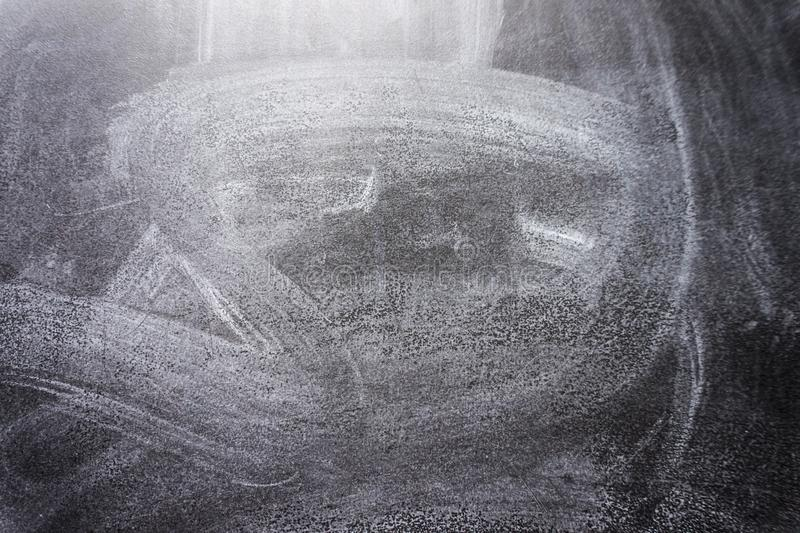 Svart svart tavlatextur Abstrakt krita gned ut på svart tavla- eller svart tavlatextur royaltyfri bild