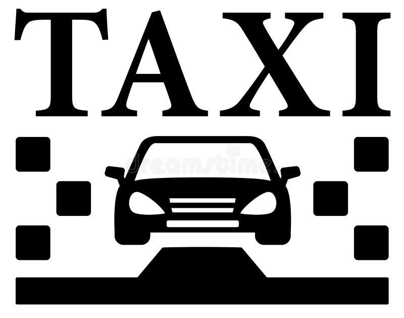 Svart taxisymbol vektor illustrationer