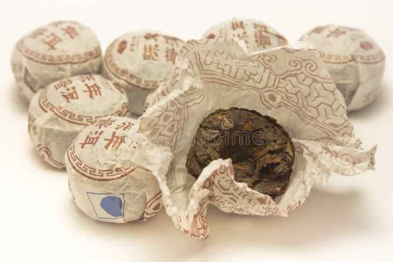 Svart tea för kines arkivfoto