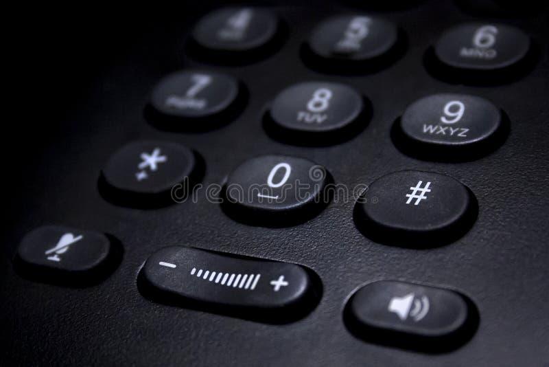 Svart telefontangentbordsdetalj arkivbilder