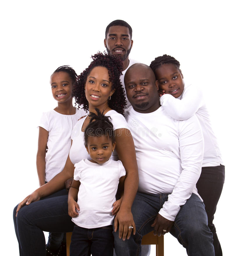 Svart tillfällig familj royaltyfri bild