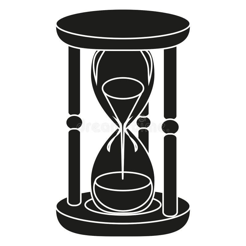 svart timglas vektor illustrationer