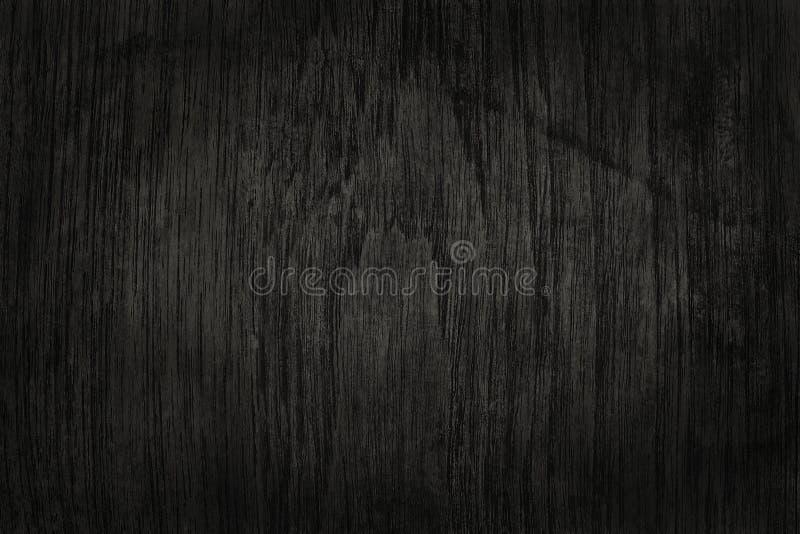 Svart träväggbakgrund, textur av mörkt skällträ royaltyfri fotografi