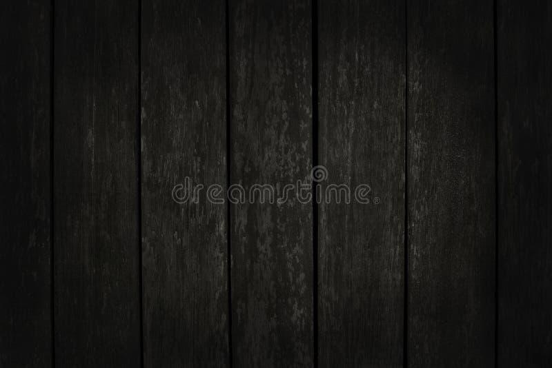 Svart tr?v?ggbakgrund, textur av m?rkt sk?lltr? med den gamla naturliga modellen f?r designkonstarbete, b?sta sikt av korntimmer fotografering för bildbyråer
